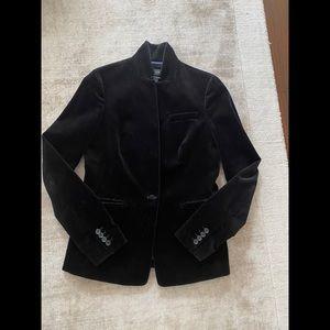 J CREW Regent blazer in black velvet - Sz 4T